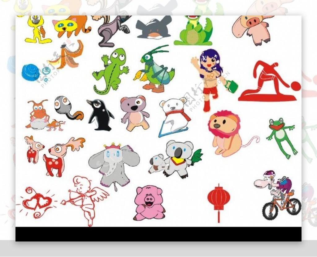 卡通动物集锦图片