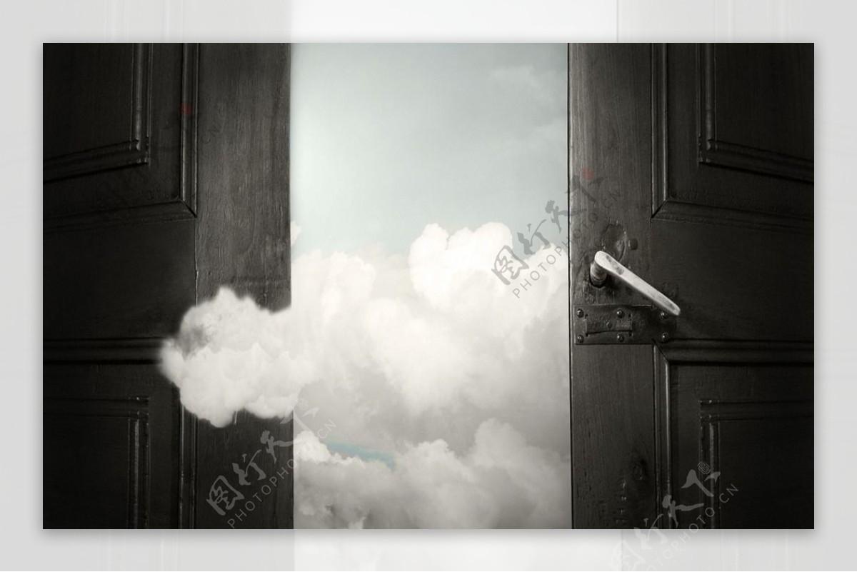 大门打开大门图片